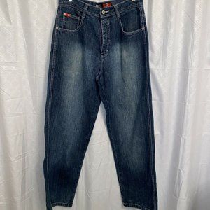 Southpole Jeans Dark Wash Distressed Relaxed  34